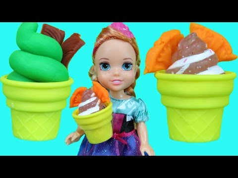 Thumbnail: ICE CREAM truck ! Elsa and Anna toddlers enjoy ice cream! They play and ARGUE !