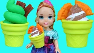 ICE CREAM truck ! Elsa and Anna toddlers enjoy ice cream! thumbnail