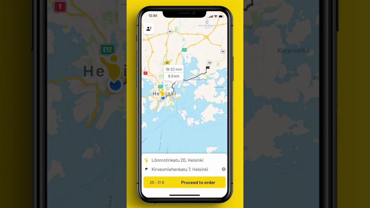 Taksi Helsinki -app. The best taxi app in Capital Region. Check it out!