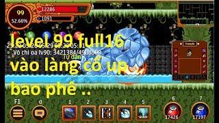 Ninja school online   level99 full16 phân thân lv100 vào lảng cổ up bao phê