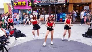 2018.8.12&걷고싶은거리&홍대&유가네닭갈비앞&여성댄스팀&해피니스&by큰별