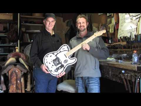 Waylon Jennings Guitar (How it's made) - Terry Lankford