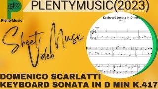 Scarlatti D. |  Keyboard Sonata in Dm K.417 organ