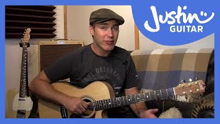 Creating Folk Fingerstyle Patterns - Folk Guitar Lesson - JustinGuitar [FO-103]