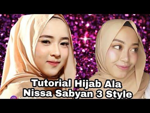 Tutorial Hijab Ala Nissa Sabyan Untuk Lebaran Hijab Kekinian Youtube