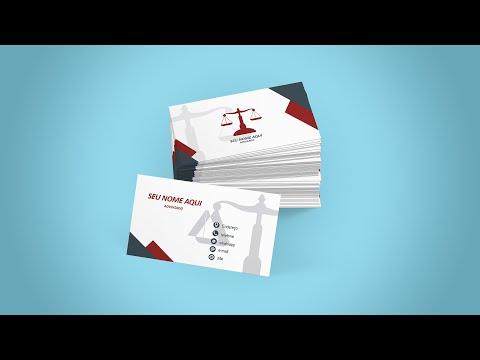 3 Modelos de Cartão de Visita Advogado