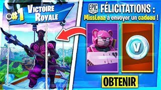 WINNER THE SKIN MÉCHA IN YOU ON FORTNITE! (PERSONALISED PART)