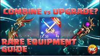 Lineage 2 Revolution Equipment Guide Combing vs Upgrading Weapons How to get Rare Items