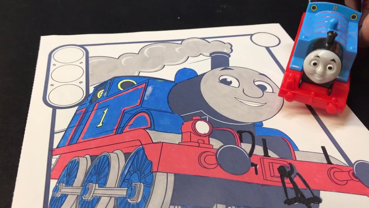 Thomas & Friends Coloring Book with Color Wonder - YouTube