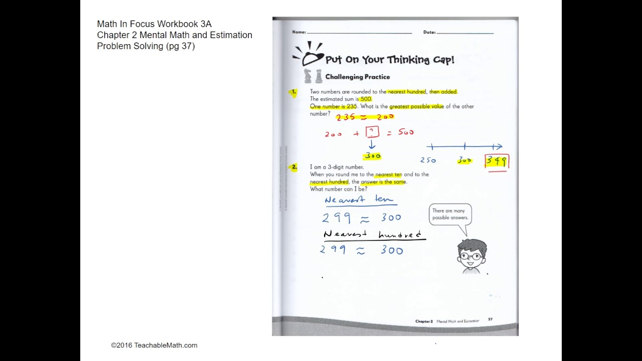 MIF Workbook 3A solutions chapter 2 Mental Math and