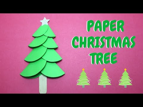How to Make a Paper Christmas Tree   Christmas Ideas   Paper Craft