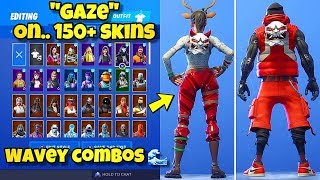 "NOUVEAU ""GAZE"" BACK BLING Présenté avec plus de 150 SKINS! Fortnite Battle Royale (BEST GAZE COMBOS)"