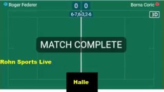 FEDERER vs CORIC Live Now Final Halle 2018 - Score