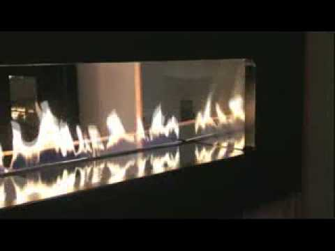 Double Sided Fire Ribbon By Spirit Fires Ltd, UK (See Through Fireplace)    YouTube