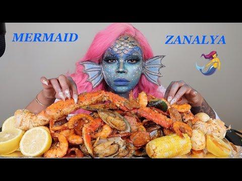spicy-king-crab-legs-&-shrimp-seafood-boil-mukbang-먹방-eating-show!