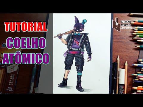 Como Desenhar O Coelho Guerreiro Com Calça Angelical Skin