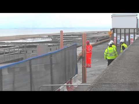 Rossall sea defences June 2014