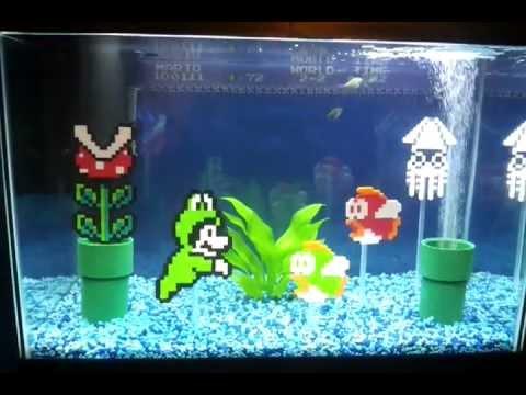 Super Mario Aquarium - Super Mario Fishtank - YouTube
