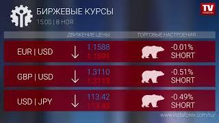InstaForex tv news: Биржевые курсы 15:00 (08.11.2017)