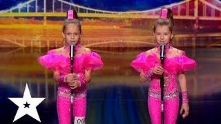Диско с акробатикой от Алины и Насти - Україна має талант-6 - Кастинг во Львове(Алина Бондаренко и Настя Логинова танцуют на кастинге