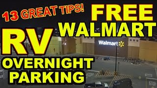 "👍""Top 13"" Tips for FREE Overnight RV Parking at WALMART"