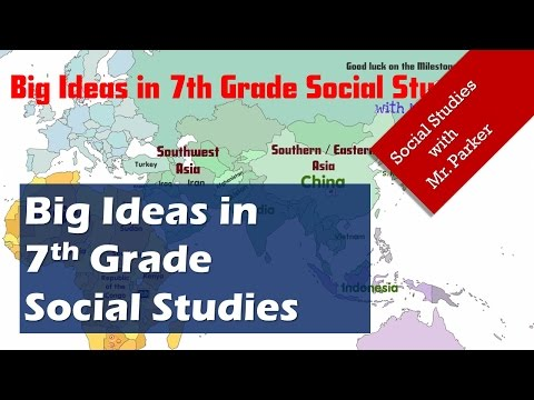 Big Ideas in 7th Grade Social Studies