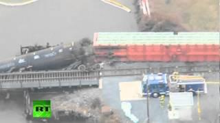 Video: New Jersey train derails, toxic spill reported in creek