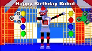 Happy Birthday Robot Party Dance Music Dab Fidget Spinners Jumpers Cake and Ballloons