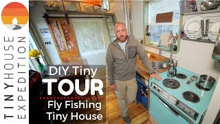 Single Father Builds Clever Tiny House With Recycled Materials On His Land