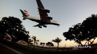 A380 British Airways Landing in Los Angeles.