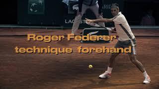 Roger Federer. Forehand.