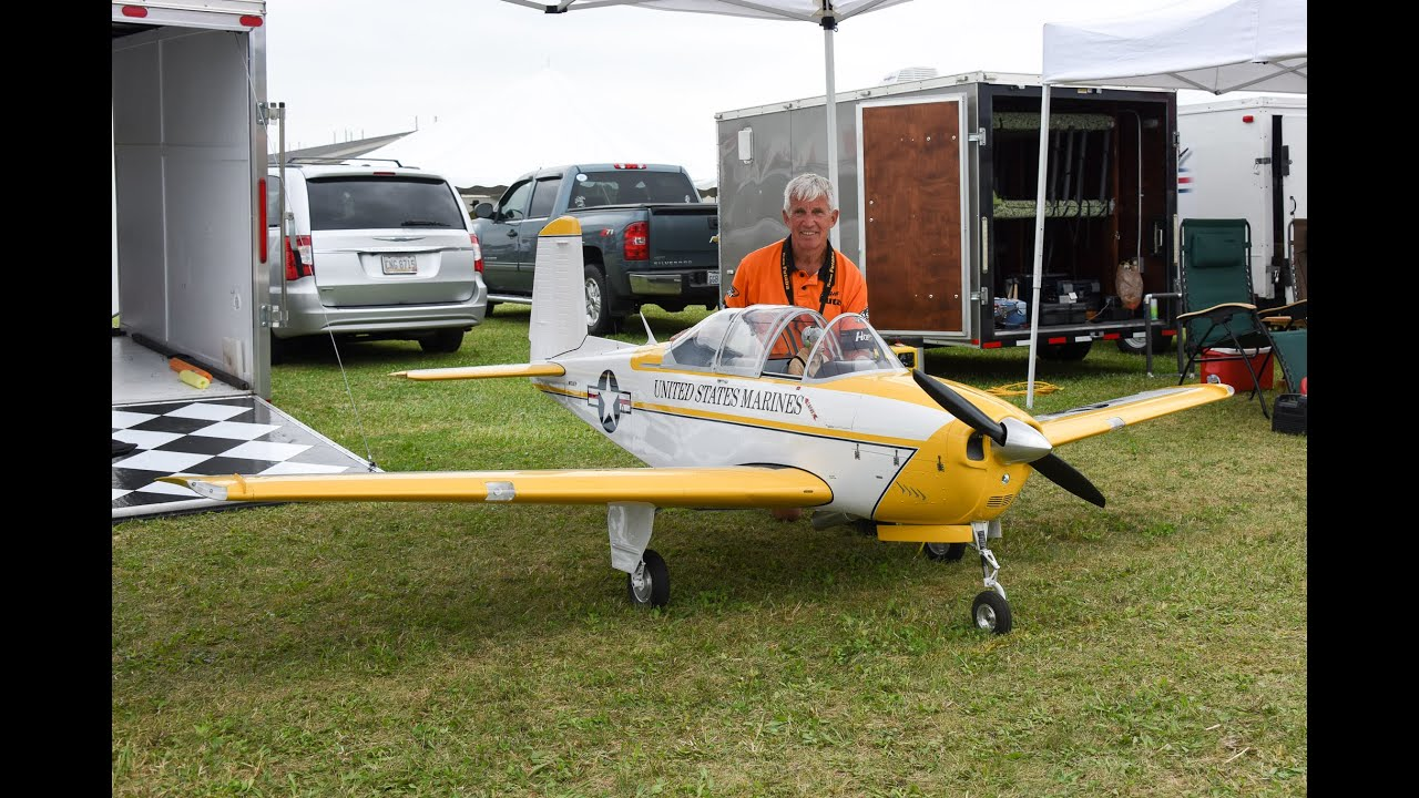 Mike Barbee's 36% 115lb RC Beechcraft T-34 Mentor N134TP ...