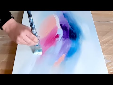 Abstract Acrylic Painting Demo - Watercolor Look - Color Explosion - Easy how to abstract
