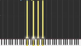 Welcome To The Black Parade - My Chemical Romance (Easy Piano Tutorial) i n Synthesia (100% speed)