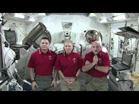 Station Crew Discusses Life in Space at Department of Education Event