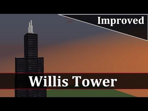 Minecraft Willis Tower Tutorial (Improved)