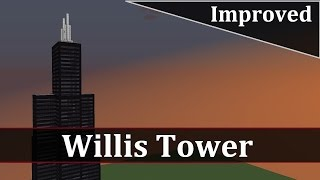 Minecraft Willis Tower Tutorial (Improved)