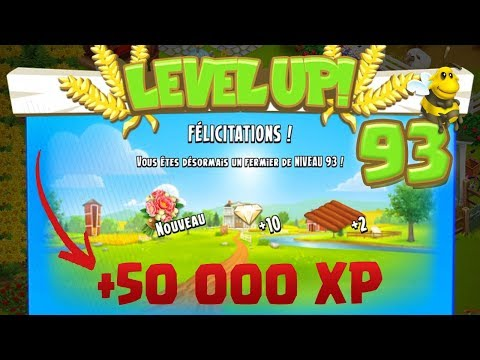 Level up : niveau 93 - MAJ - Nouvel animal ! Hay Day
