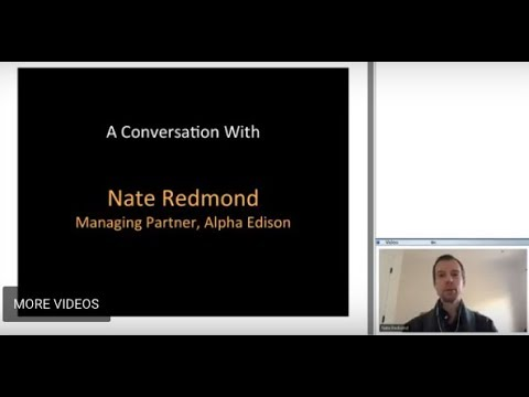 387th 1Mby1M Roundtable February 22, 2018: With Nate Redmond, Alpha Edison