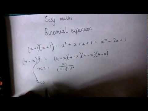 A guide to A-level maths - Binomial Expansion