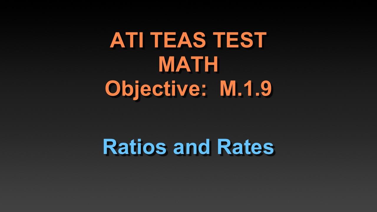 TEAS Math Tutorial - Ratios and Rates - YouTube