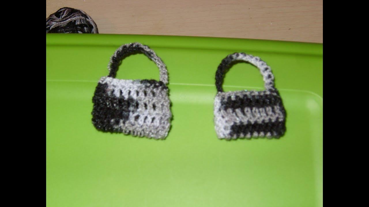 C mo hacer una bolsita miniatura tejida a ganchillo youtube - Hacer una manta de ganchillo ...