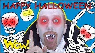 Happy Halloween Songs with Steve and Maggie | Magic Speaking Stories for Kids with Wow English TV