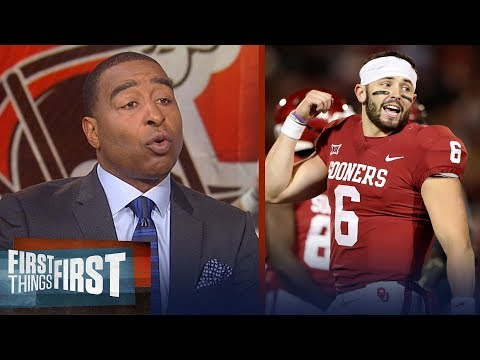 Cris Carter on Browns acing draft with Baker Mayfield, Josh Rosen's comments | FIRST THINGS FIRST