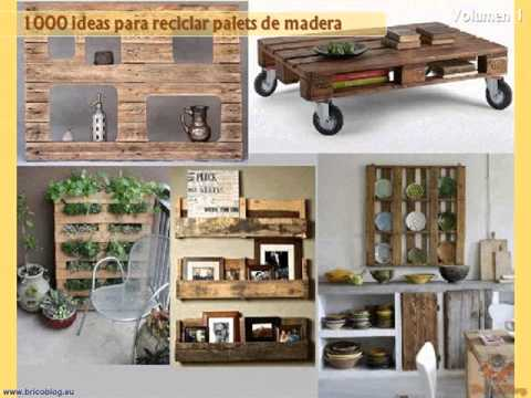 1000 ideas creativas para reciclar palets de madera for Ideas creativas para decorar el hogar