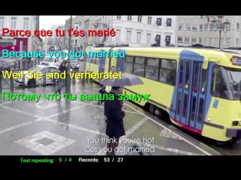 Learn French by Stromae   Formidable Wonderful French English German Russian LYRICS SUBTITLES