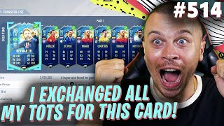 FIFA 20 I EXCHANGED ALL MY TOTS CARDS FOR THIS EXPENSIVE 4 MILLION GAME CHANGER in FUT CHAMPIONS!