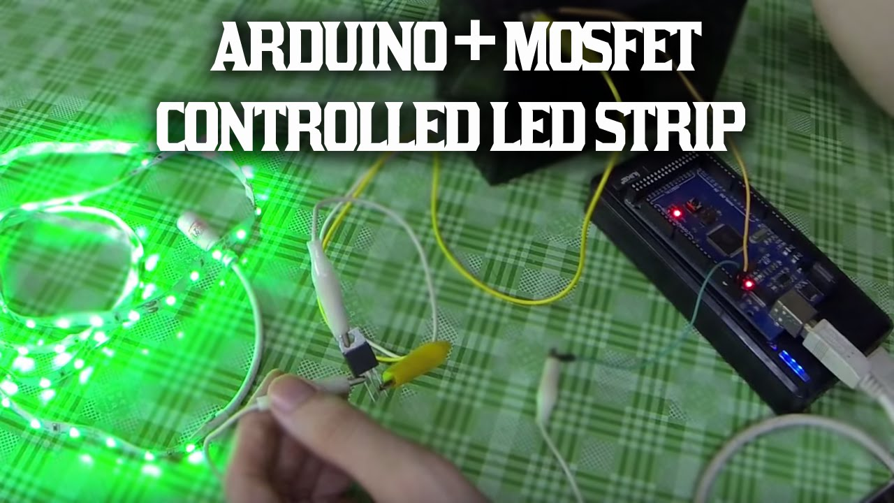 Control 12v Led Strip From Arduino Using A Mosfet Youtube Drives 10 Leds