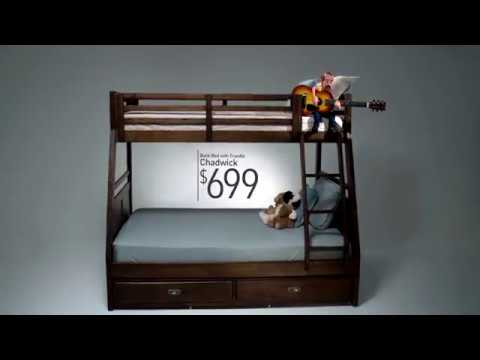 The Ballad Of The Chadwick Bunk Bed Bob S Discount Furniture Youtube