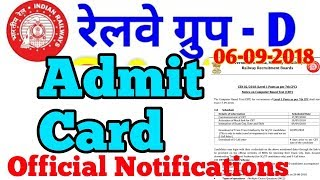 Railway Group D ADMIT CARD   RRB Group-D Admit card :-SahuG Manish